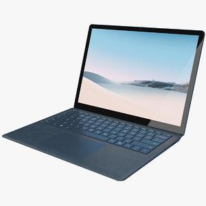 3D realistic microsoft surface laptop