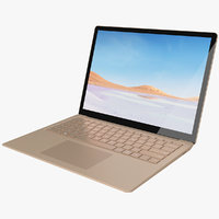 3D realistic microsoft surface laptop