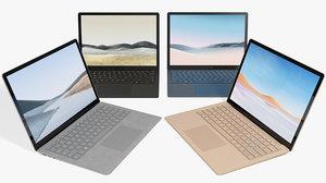 3D realistic microsoft surface laptop model
