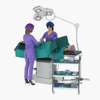 operating nurse 3D model
