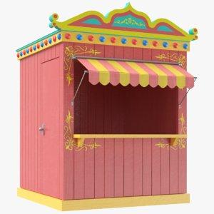 3D model real kiosk booth