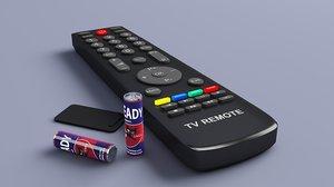 remote control battrey 3D model