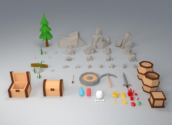 stone chest toy model