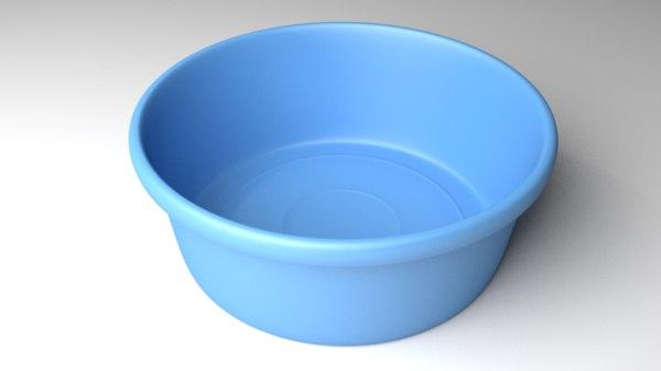 3D plastic wash basin