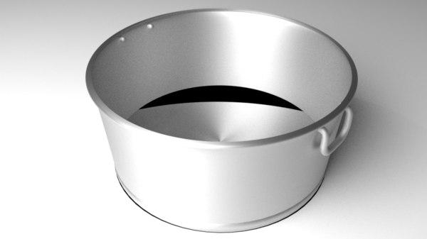 3D steel wash basin