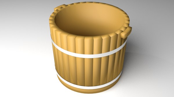 wooden wash basin 3D model