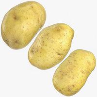 3D model clean potatoes 02