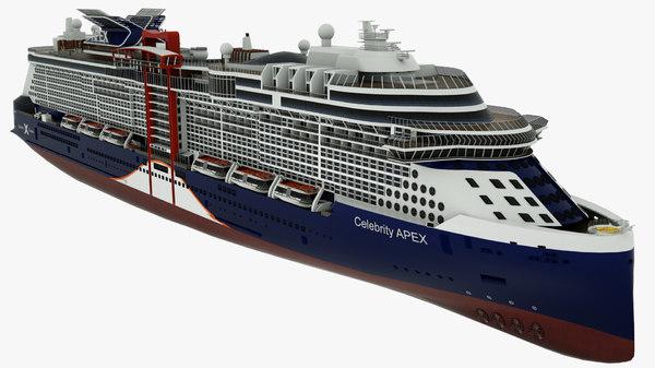 cruise vessel celebrity apex 3D