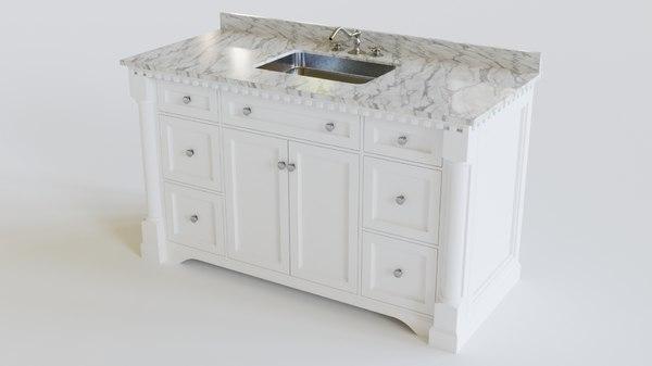 3D bath vanity model