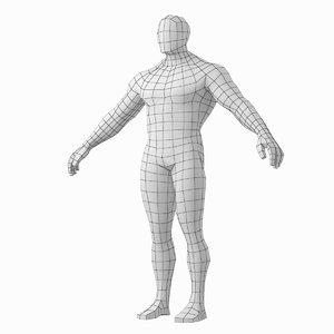 3D human male bodybuilder body model