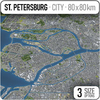 st petersburg - city 3D