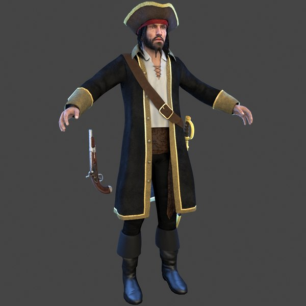 pirate man hat 3D
