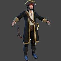 pirate man hat 3D