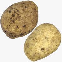3D potatoes dirt 03