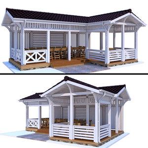 3D gazebo modern style