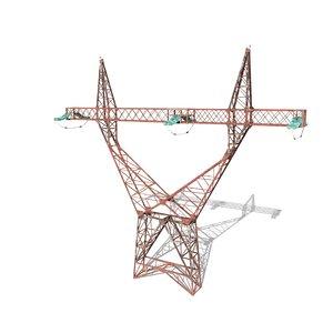 3D model electricity pole blender