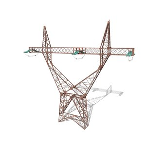 electricity pole 3D