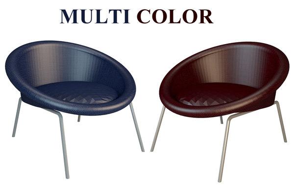 3D armchair colors model