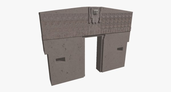 3D gate sun tiwanaku god model