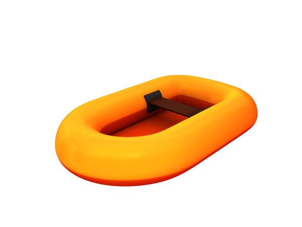 3D model rubber raft