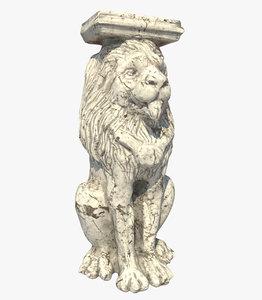 lion sculpture 3D