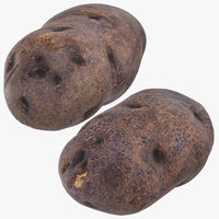 purple potatoes 03 3D model