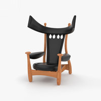 sergio rodrigues chair 3D model