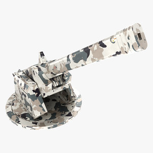 3D model sci fi turret pbr