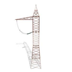 electricity pole 3D model