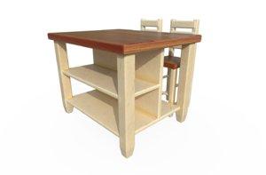 breakfast table 3D model