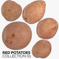 red potatoes 01 3D model