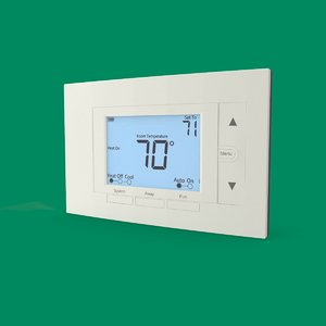 digital thermostat 3D model