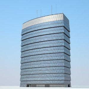 3D model city skyscraper