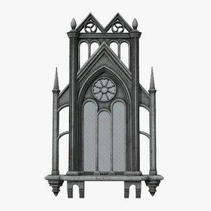 3D model gothic window 06