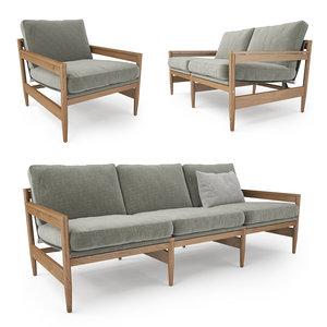 3D roda road sofa model