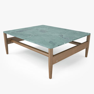 3D roda road coffee table model