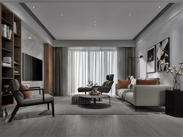 3D living room 4x3 5