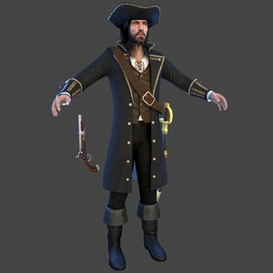 pirate man hat 3D model