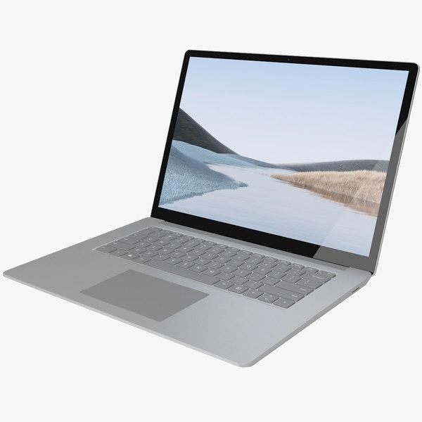 realistic microsoft surface laptop 3D model