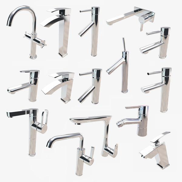 bathroom faucets 3D model