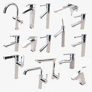 bathroom faucets 3D model