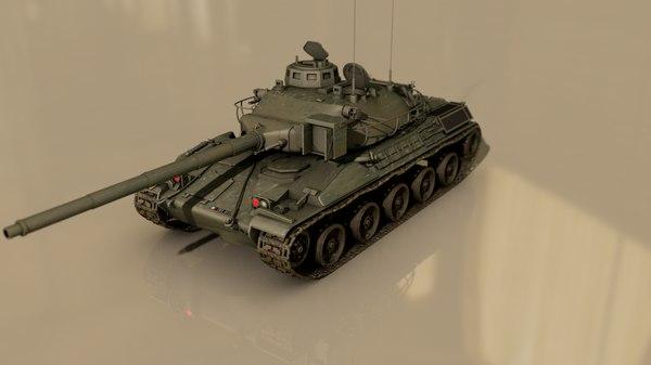 amx 30 military battle tank 3D model
