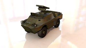 brdm-3 fagot military tank model