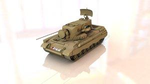 3D flakpanzer gepard military tank