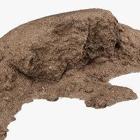 3D mulch pile
