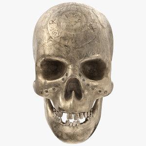 3D ancient skull - pbr