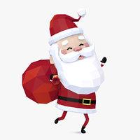 3D style santa claus character