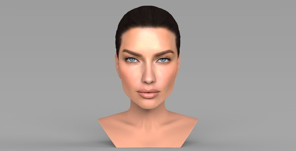 adriana lima bust ready 3D model