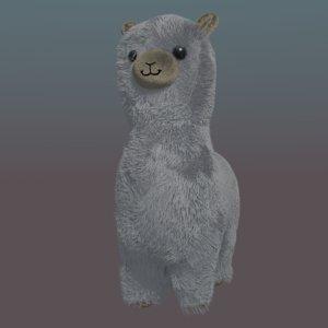 alpaca toy 3D model