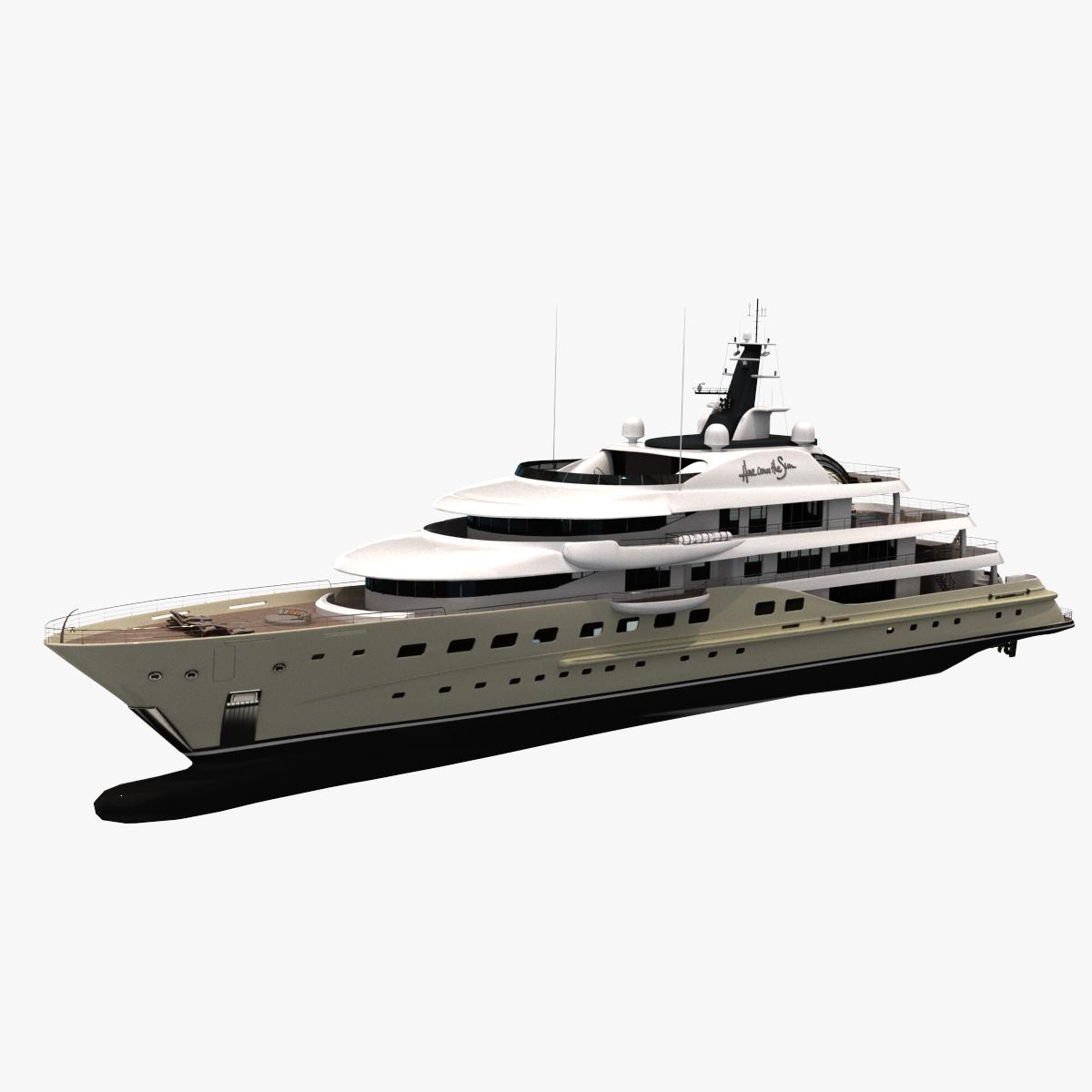comes sun yacht 3D model